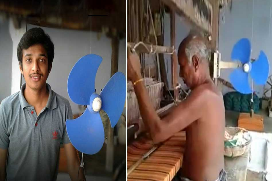 Tamil Nadu: A Young Engineer Made A Fan That Runs Without Electricity For His Grandfather