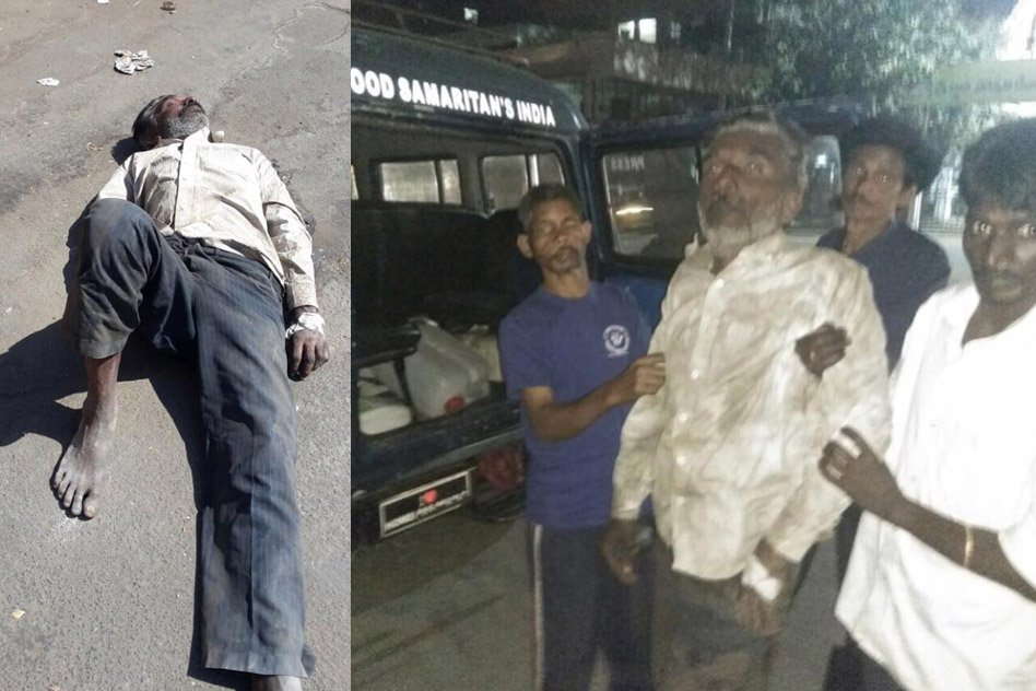 Good Samaritans Rescue Paralysed Elderly Man Dying On The Roadside In Secunderabad, Telangana