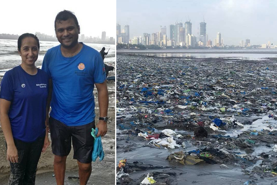 Meet The Mumbai Couple Who Have Cleared 650 Tonnes Of Plastic From Mahim Beach In 46 Weeks