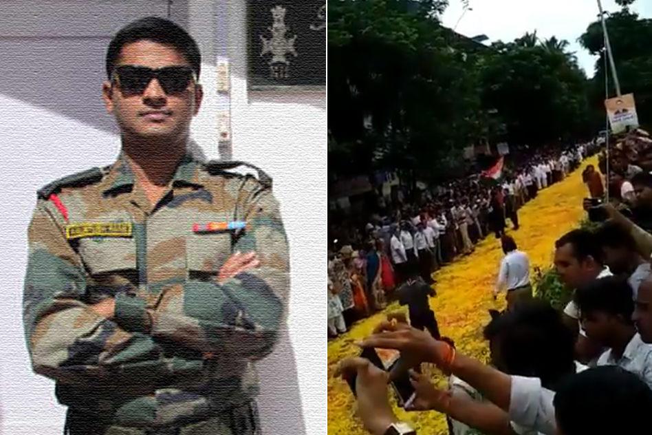 Mumbai: Echoes Of Vande Mataram & Petals Grace Last Journey Of Martyred Army Major