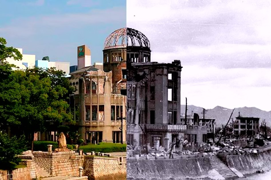 Hiroshima Then And Now: Remarkable Images Of City Which Rose From The Ashes Of Atom Bomb