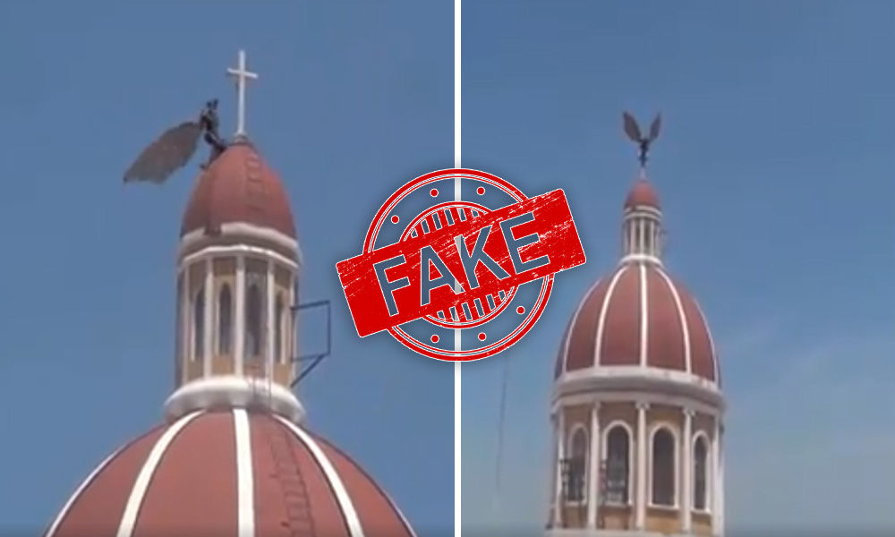Fact Check: Video Of Gargoyle Attacking Italian Church Is Fake