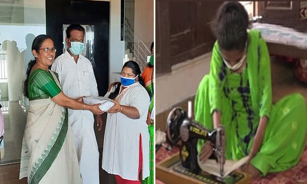 COVID-19: Defeating All Odds, Differently-Abled Stitch Masks For Needy In J&K, Kerala