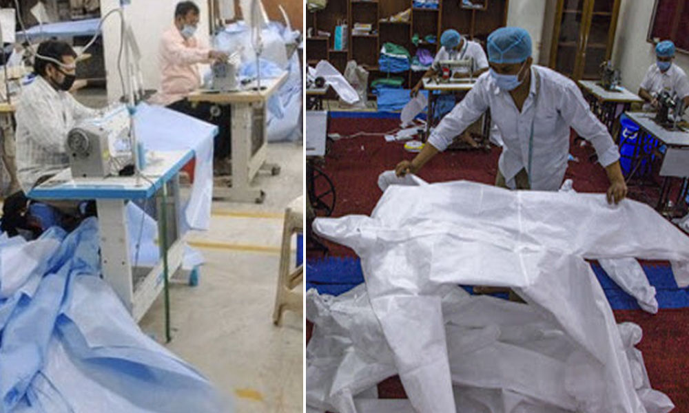 COVID-19: From Zero, India Now Produces Two Lakh PPE Kits Per Day