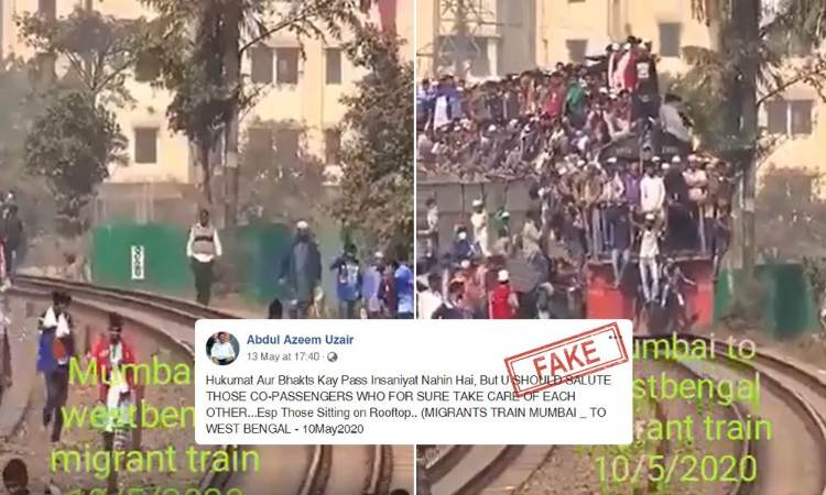 Fact Check: Did An Overcrowded Train Carry Migrants From Mumbai To West Bengal Amid Lockdown?