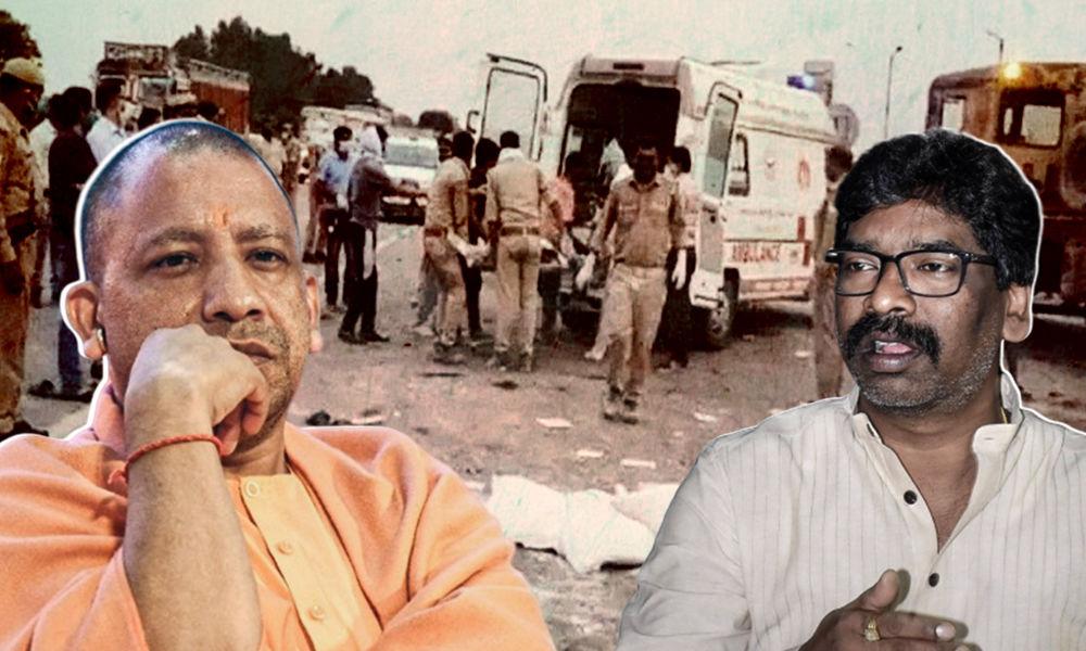 Auraiya Accident: UP Govt Sends Dead Bodies, Injured Migrants Bundled Together In Open Truck