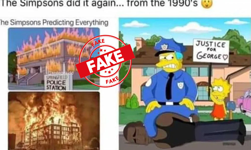 Fact Check: No The Simpson Did Not Predict George Floyds Death Back In The 1990s