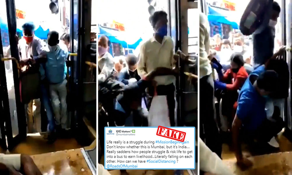 Fact Check: Social Distancing Goes For A Toss In A Mumbai Bus?