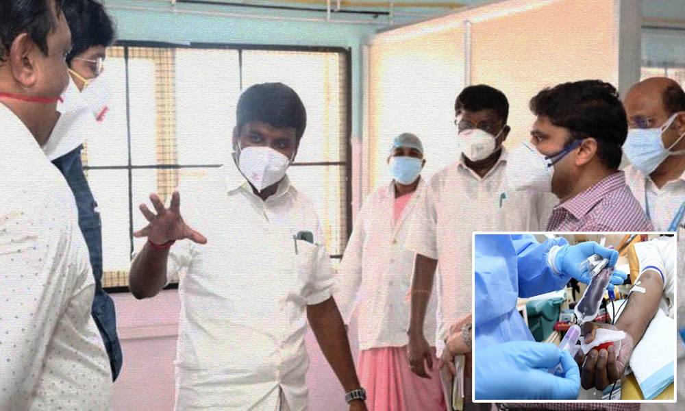 Convalescent Plasma Therapy Successful In 18 Of 20 COVID-19 Patients: TN Govt