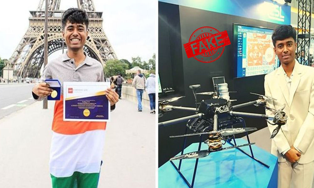 Fact Check: Drone Boy Prathap Made Fools Out Of Media, Misappropriated Others Works As His Own