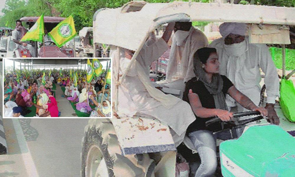 Punjab: 17-Year-Old Girl Leads Tractor March Against Farm Ordinances In Bathinda