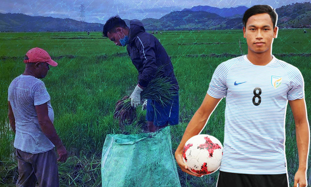 No Shame In Going Back To Your Roots: Indian Football Star Amarjit Helps Family With Farming In Manipur