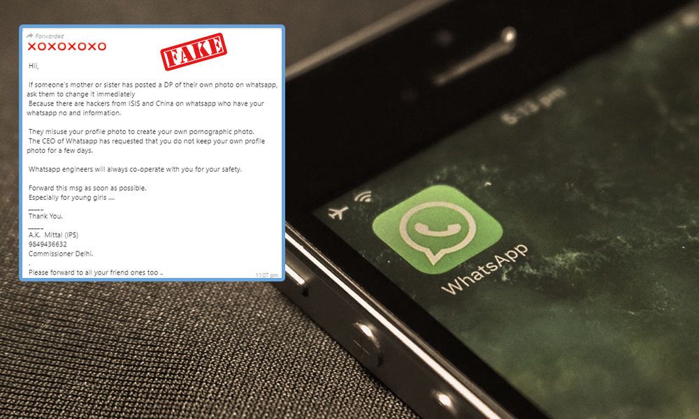 Fact Check: ISIS Trying To Hack Your WhatsApp Display Picture?