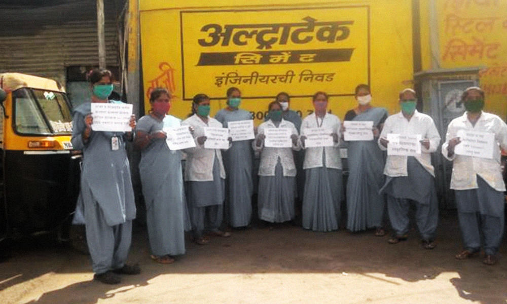 COVID-19: 70,000 ASHA Workers In Maharashtra Resume Work, Wear Black Masks In Protest Against Unmet Demands