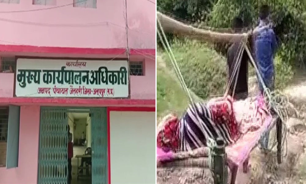 Madhya Pradesh: Family Forced To Carry Ailing Woman To Hospital On Cot In Absence Of Paved Roads