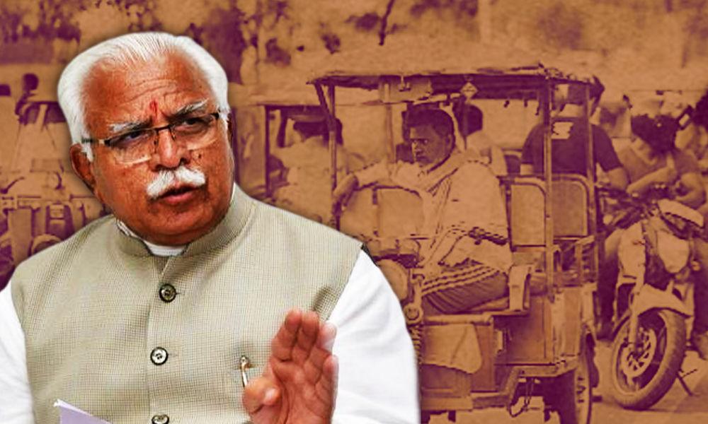 Haryana: CM stops Cavalcade, Helps Injured E-Rickshaw Driver Reach Hospital
