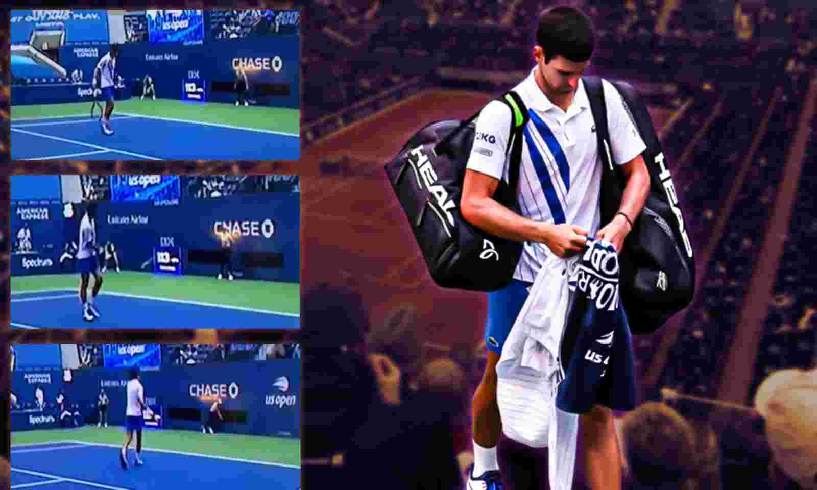 Us Open 2020 World No 1 Novak Djokovic Disqualified After Hitting Line Judge With Ball
