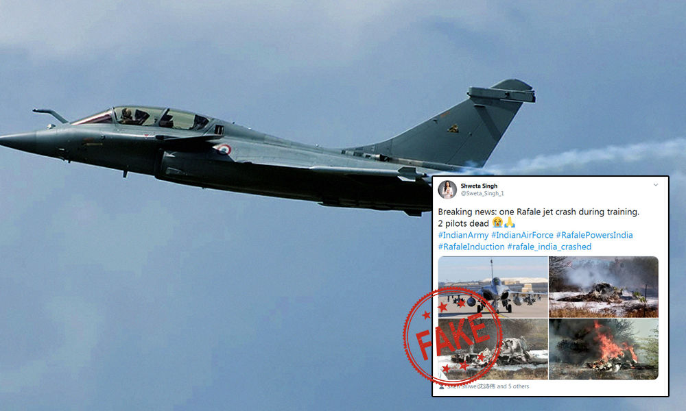 Fact Check: Did A Rafale Aircraft Crash During Its Formal Induction?