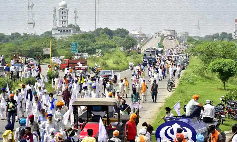 Punjab: Farmers Hold Protest Against Centres Farm Ordinances, Block Roads