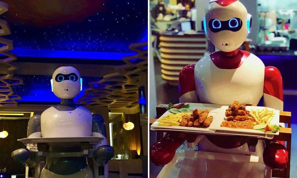 Artificial Intelligence Robot Aglio Kim Serves Customers At South Korean Restaurant