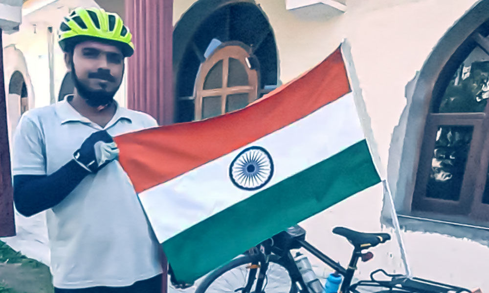 Meet Neeraj Prajapati, Bicycle Man Who Pedalled 18,500 Km To Spread Awareness On Organic Farming
