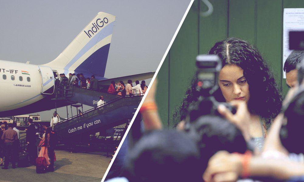 Indigo Bans 9 Journalists For 15 Days Over Misconduct In Kangana Ranauts Flight