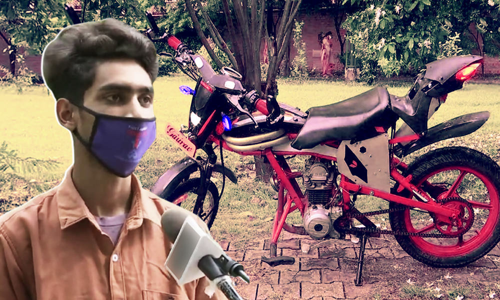 Chandigarh: Class 10 Boy Builds Motorbike From Scrap Material