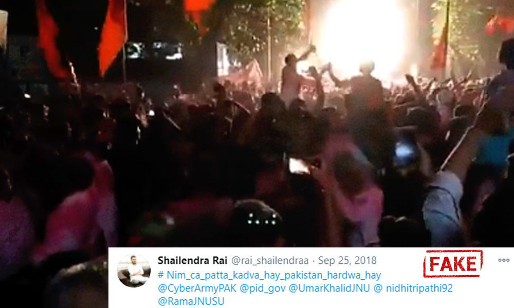Fact Check: Old Video Of Ganpati Visarjan Goes Viral Claiming Anti-Pakistan Slogans Raised In JNU