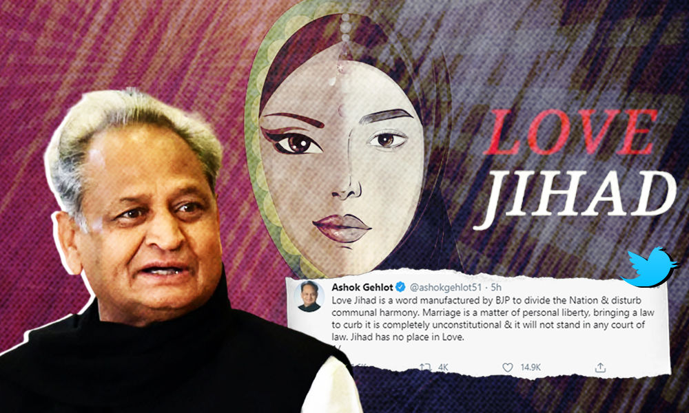 Love Jihad Is Term Coined By BJP To Disrupt Communal Harmony: CM Ashok Gehlot