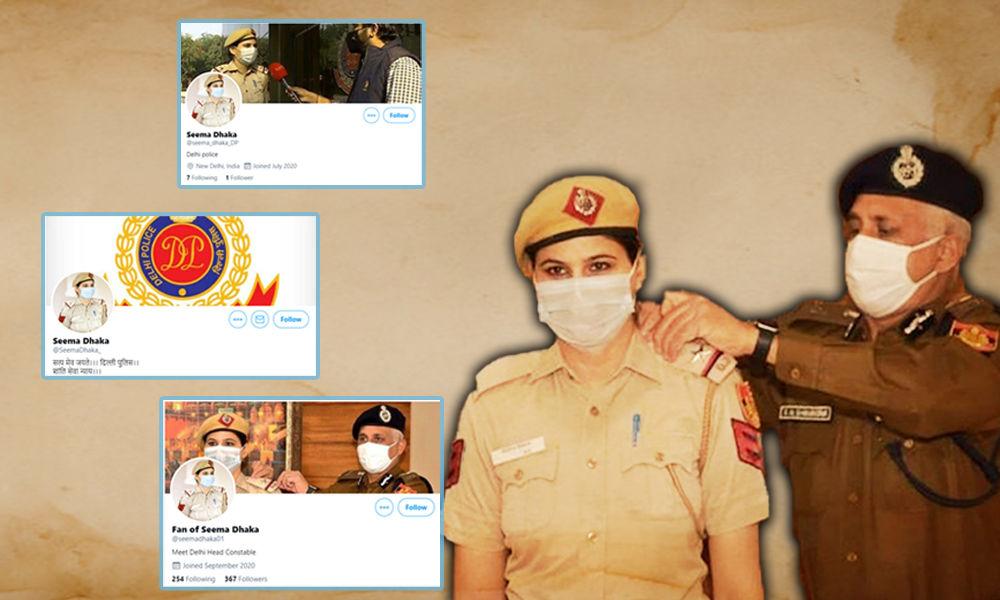Fact Check: Multiple Fake Twitter Accounts Of Delhi Cop Seema Dhaka Created