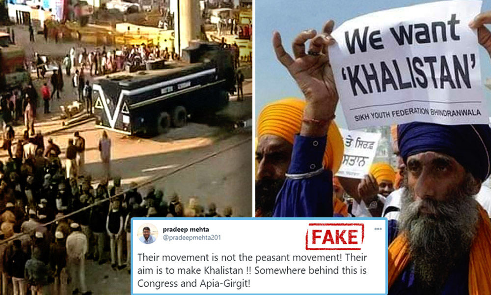 Fact Check: No, The Image Of Nihang Sikh Holding Placard Demanding Khalistan Is Not Of Ongoing Farmers Protest