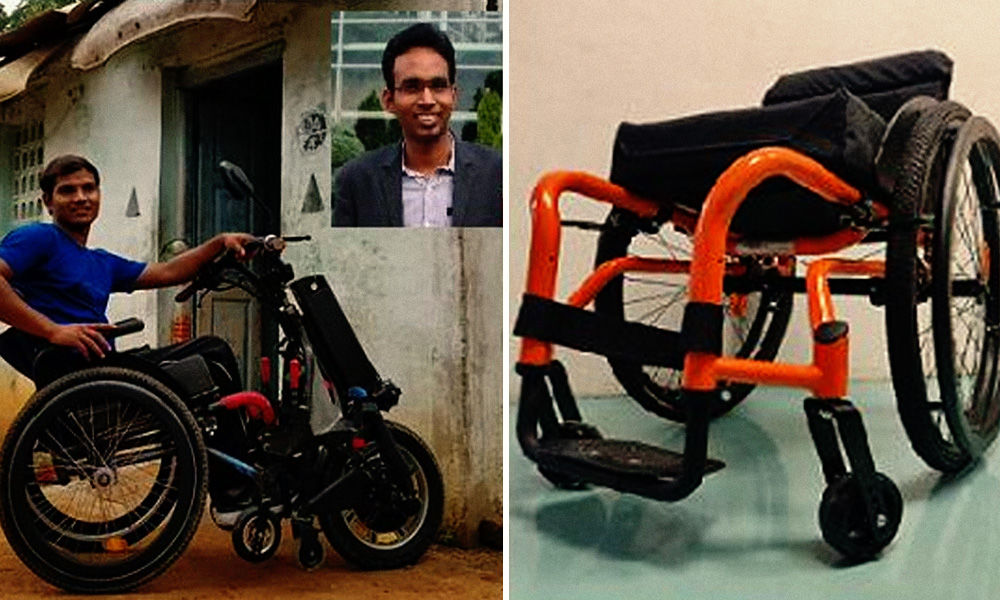 Chennai Startup Develops Wheelchair That Transforms Into Electric Vehicle With Just One Bolt