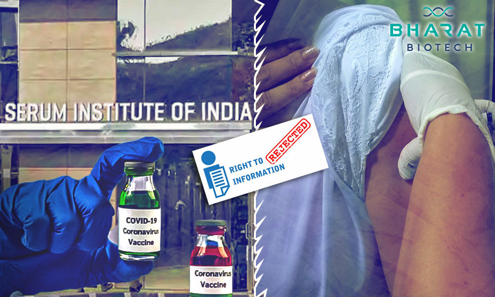 Health Ministry Refuses To Furnish Data Used For Approval Of COVID Vaccines Under RTI
