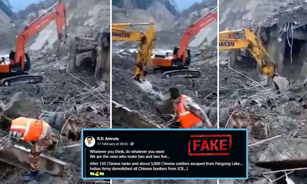 Fact Check: Video Of Rescue Operation Shared As Indian Army Removing Chinese Bunkers At Pangong Tso Lake