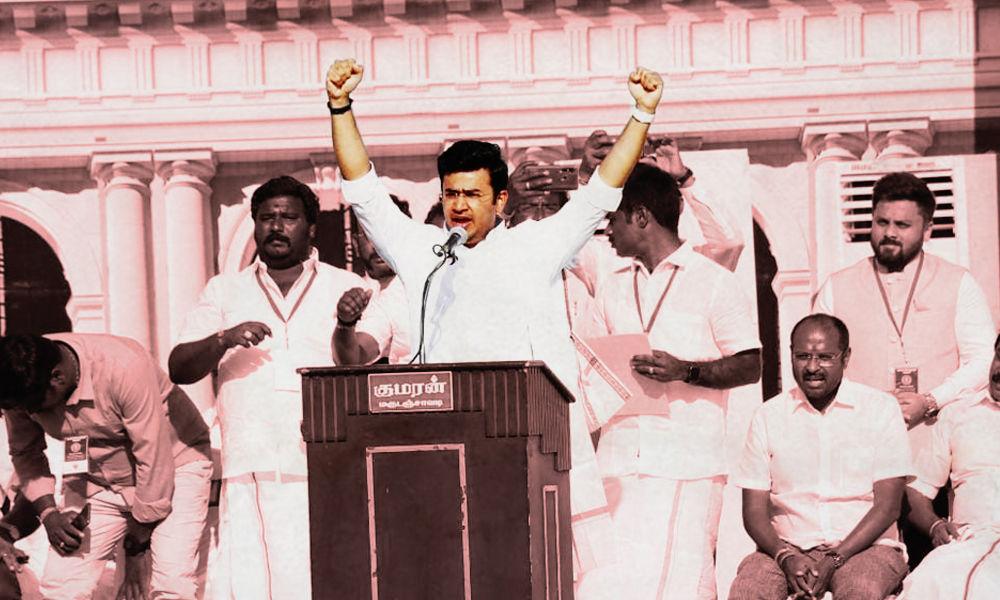 DMK Is Anti-Hindu, Must Defeat It: BJPs Tejasvi Suryas Appeal To Tamil Nadu