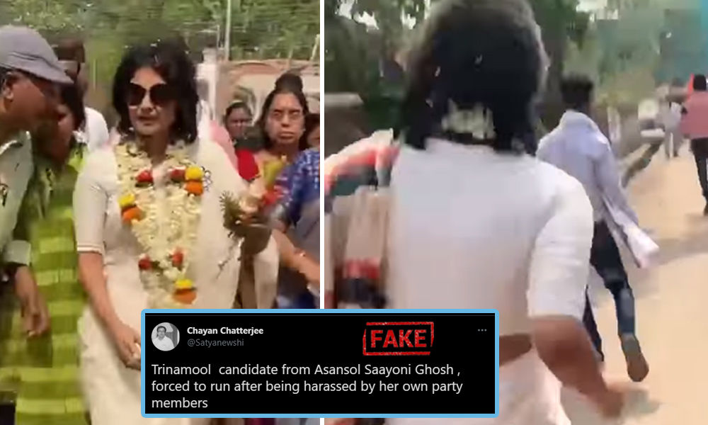 No, TMC Candidate Saayoni Ghosh Wasnt Running Because Her Party Workers Were Harassing Her