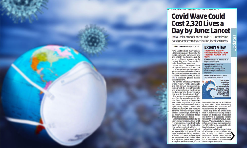 2,320 COVID Deaths Per Day By June In India - Lancet Report Warns