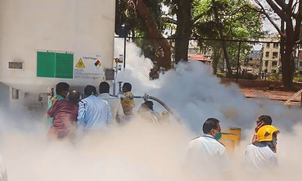 Maharashtra: 24 Covid Patients Die Due To A Leak In Oxygen Tank In Hospital
