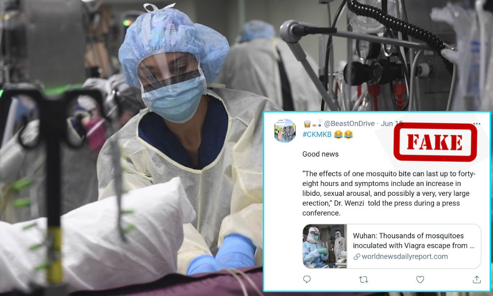 Mosquitoes Injected With Viagra Escape Wuhans Lab? Satirical Article Viral As Real News
