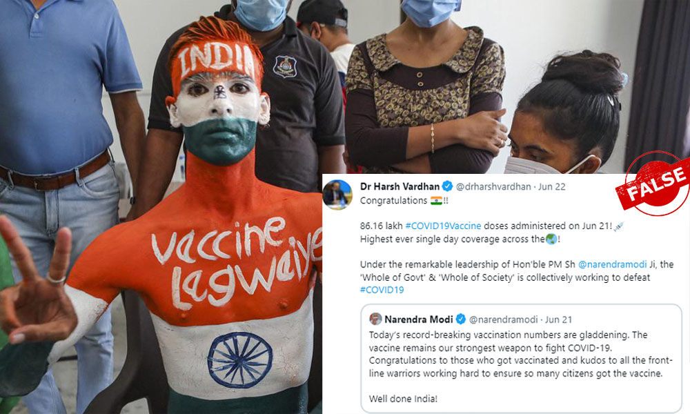 Indias 86 Lakh Vaccine Doses In A Day Is Not Highest Record Across World
