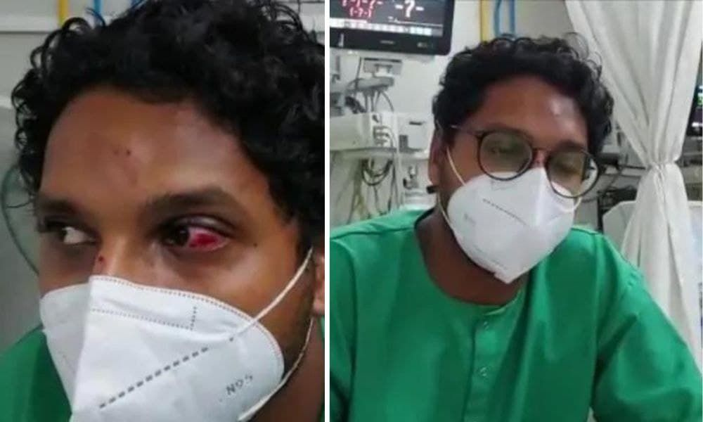 Patient Attacks Doctor With Saline Stand After Latter Asks Him To Mask Up