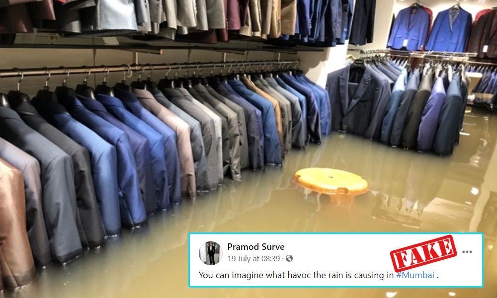 Viral Image Of Flooded Showroom Is From Patna, Not Mumbai