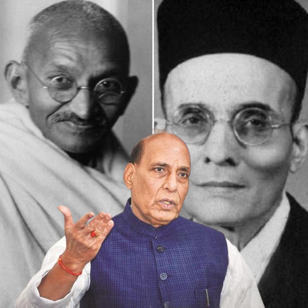 Did Gandhi Suggest Savarkar To Write Mercy Petitions? No, Rajnath Singh Made False Claim