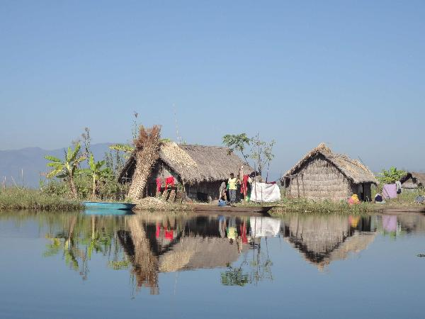 Floating Phum Huts in Loktak lake