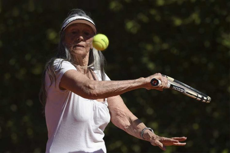 83-Yr-Old Tennis Champion
