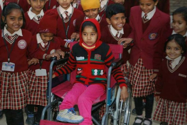 Students Collect Money To Gift A Wheelchair