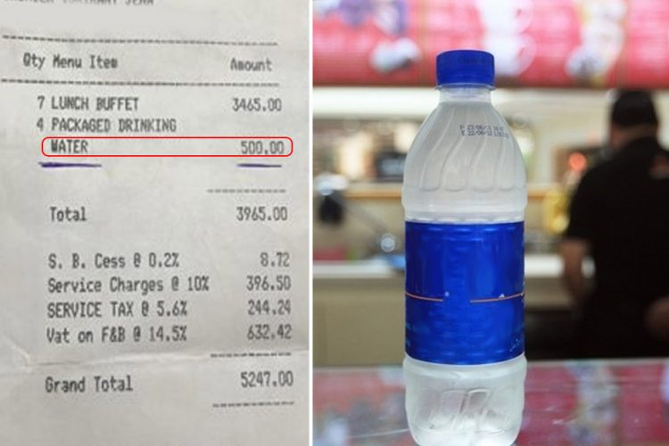 Mall Restaurants Raided For Water Bottles Complaints