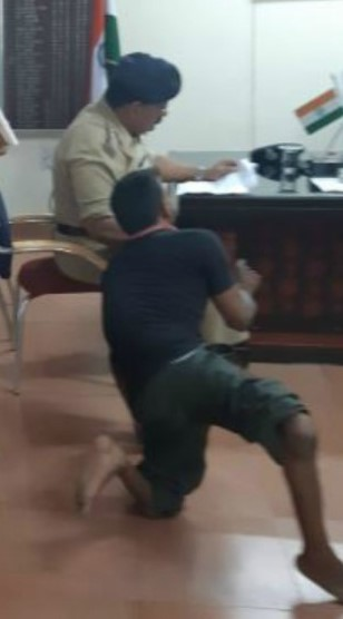 Disabled Couple Crawl SSP Office