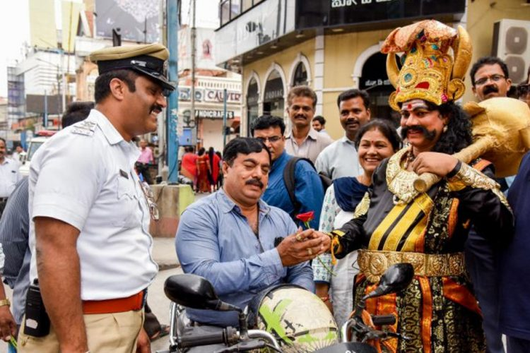 Don't Want Yamaraja To Take Away Your Life? Wear A Helmet: Bengaluru Traffic Police