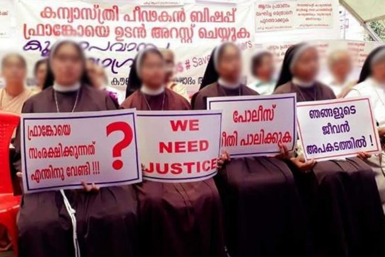 Indian Catholic nuns protest against bishop accused of rape